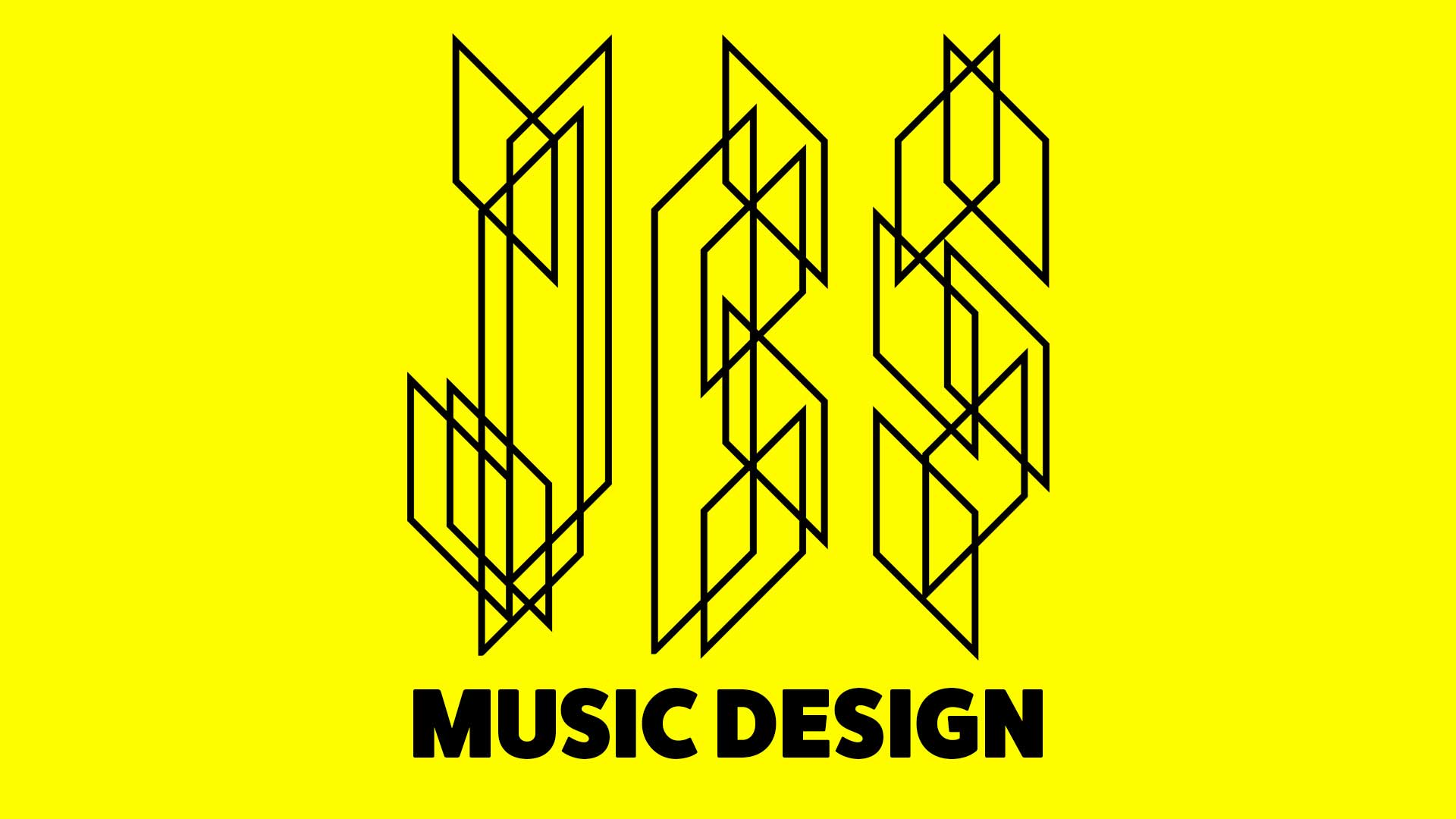 JBS Music Design Header Logo in Black and Yellow